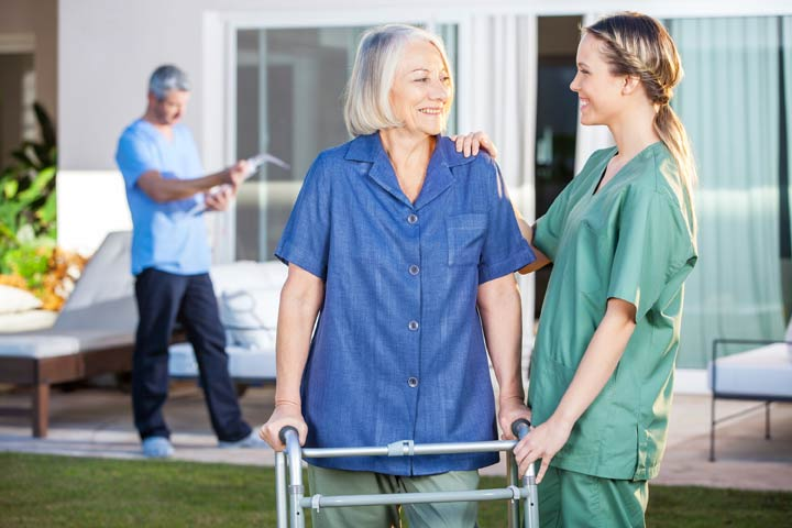Home health care provider and family